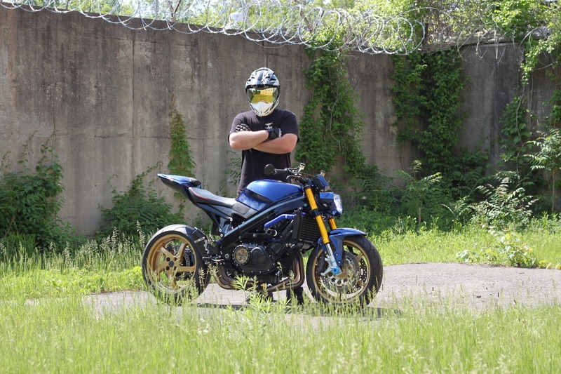 Стритфайтер Honda VFR750F Blue Meanie