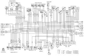 Схема электрооборудования мотоциклов Hyosung GT 650 Comet