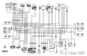 Схема электрооборудования скутеров Hyosung SD50 Sense