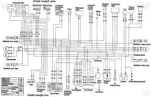 Схема электрооборудования скутеров Hyosung SF50 (на немецком)