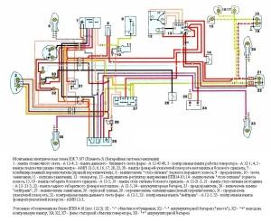 Схема электрооборудования мотоциклов ИЖ 7.107 (Планета -5)