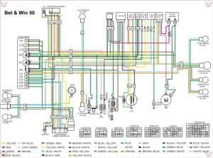 Схема электрооборудования скутеров Kymco Bet and Win 50