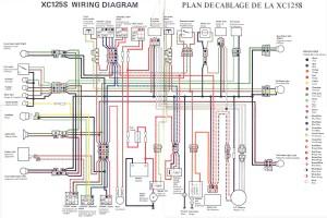 Схема электрооборудования скутеров Yamaha Cygnus XC125S