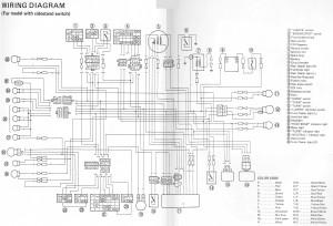 Схема электрооборудования мотоциклов Yamaha SRX6 SRX4