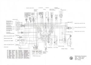 Схема электрооборудования скутеров CPI JP50, CPI JR50