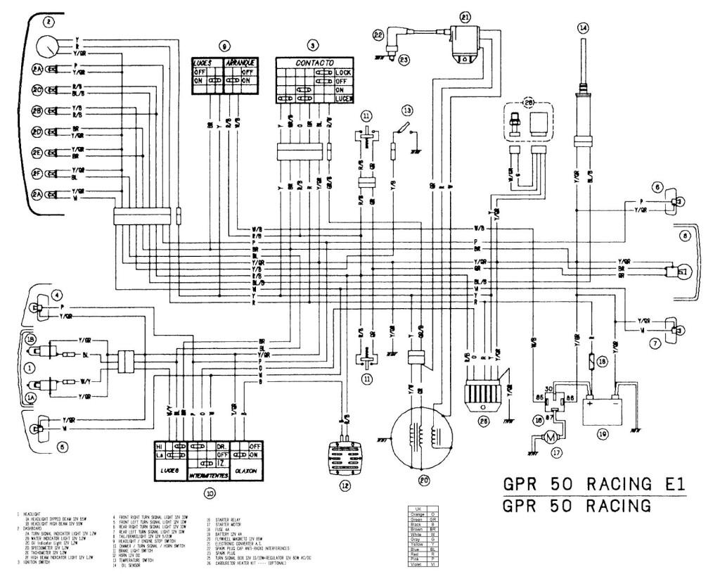 Электрическая схема racer 50