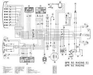 Схема электрооборудования мотоциклов Derbi GPR 50 Racing