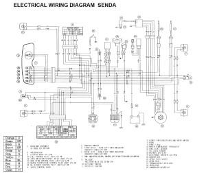 Схема электрооборудования мотоциклов Derbi Senda