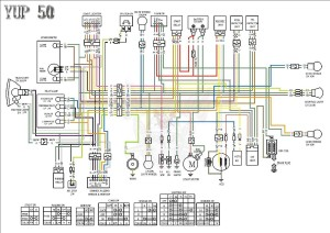 Схема электрооборудования скутеров Kymco Yup 50