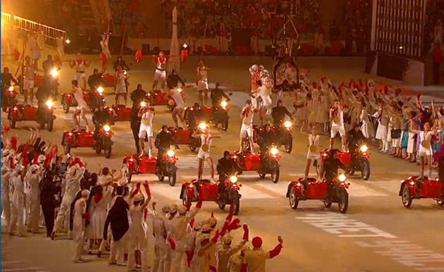 Мотоциклы Урал на Открытии Олимпийских игр в Сочи